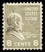 USA-CIRCA 1938: A postage stamp shows image portrait of Martin Van Buren the 8th President of the United States of America, circa 1938.