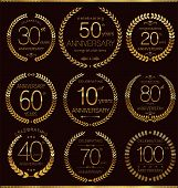 Anniversary golden laurel wreath collection