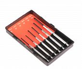 Six piece precision screwdriver set.