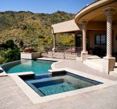 patio pool and spa