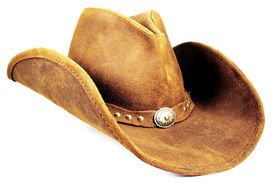 image of wrangler  - A cowboy hat isolated on a white background - JPG