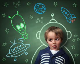 picture of child development  - Imagination and dreams of a child - JPG