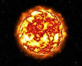 Flaming Flaring Sun