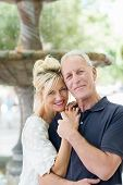 Loving Middle-aged Couple With Lovely Smiles