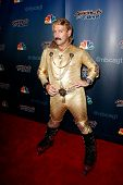 NEW YORK-AUG 6: Rollerblade dancer Juan Carlos attends the 'America's Got Talent' post show red carpet at Radio City Music Hall on August 6, 2014 in New York City.