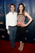 NEW YORK-AUG 6: Nick and Rachel of Blue Journey attend the 'America's Got Talent' post show red carpet at Radio City Music Hall on August 6, 2014 in New York City.