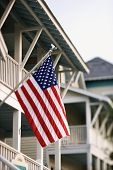 American Flag On Home