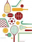 Illustration Featuring Various Sports Equipment