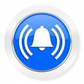 alarm blue glossy web icon