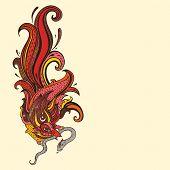 Garuda.  Hand drawn illustration.