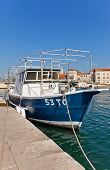 Fishing Boat At Waterfront Of Trogir, Croatia