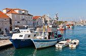Fishing Boats At Waterfront Of Trogir, Croatia