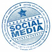 Grunge Social Media Rubber Stamp