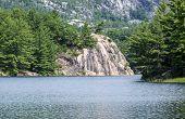 Exposed Pink Rock on George Lake Killarney
