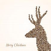 Merry Christmas Abstract Reindeer