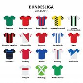 Bundesliga jerseys 2014 - 2015,German football league icons