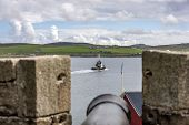 Viewed From Fort Charlotte Embrasure in Lerwick