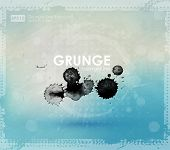 Grunge background  in blue and white color. Ink splat effect vector. new color grunge style. Grunge banner with an inky dribble strip with copy space. Abstract background for party
