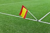 Flag On Rugby Field