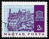 Postage Stamp Hungary 1966 Old View Of Buda