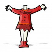 cartoon female vampire body (mix and match cartoons or add own photographs)