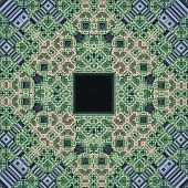 Green Fractal Window Pattern