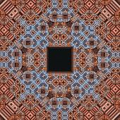 Brown Fractal Window Pattern