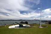 World War two artillery embankment on North Head, Waitemata Harbor,Auckland City, New Zealand
