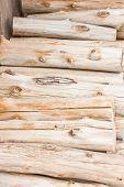 Close Up Pile Of  Dry Firewood.