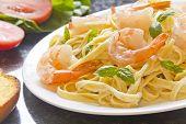 Shrimp Fettuccini Alfredo