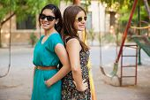 Teenage Girls With Sunglasses