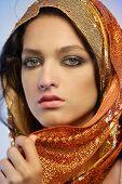 Woman Wearing Glamorous Make Up