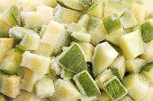 Frozen vegetable marrow