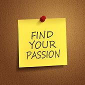 Find Your Passion Words On  note