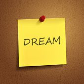 Dream Word On sticky note