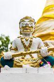 Giant Statue In Thai Temple