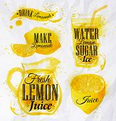 picture of fruit-juice  - Pointer drawn pour lemonade lettering drink lemonade - JPG