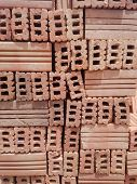 Red Brick Pavers Stacked