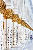 Hallway With Pillars
