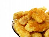 Cod In Batter Isolated On A White Background