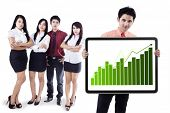 Business People Showing Growth Graph