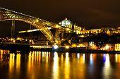 Bridge Across the River in Porto by Night