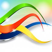 Colorful curving background