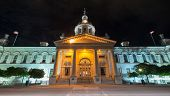 Kingston City Hall, Ontario At Night
