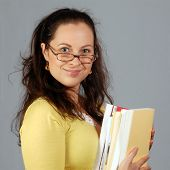 Woman In Glasses from library
