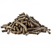 Heap pile of Fermented tea from the of willow-herb  isolated on white background