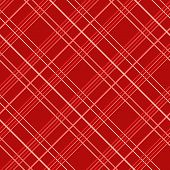 Abstract Seamless Pattern with Plaid Fabric on a red background.