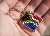 South African keyring flag