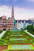 Beautiful Mont des Arts Garden and Brussels view
