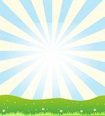 Illustration of a sun shinning